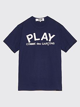 Comme des Garçons Play Logo T-Shirt Dark Navy