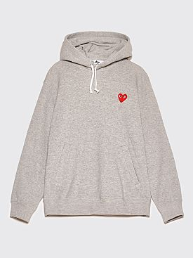 Comme des Garçons Play Small Heart Hooded Sweatshirt Grey