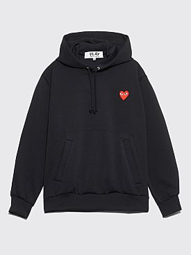Comme des Garçons Play Small Heart Hooded Sweatshirt Black
