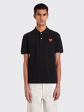 Comme des Garçons Play Small Heart Polo T-Shirt Black