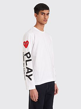 Comme des Garçons Play Printed Sleeves T-shirt White