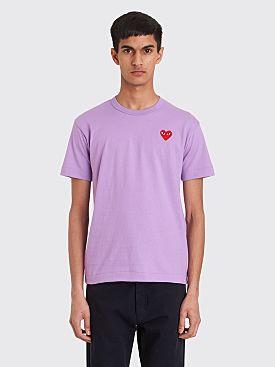 Comme des Garçons Play Small Heart T-shirt Lilac