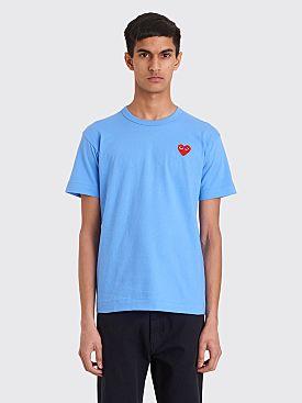 Comme des Garçons Play Small Heart T-shirt Blue