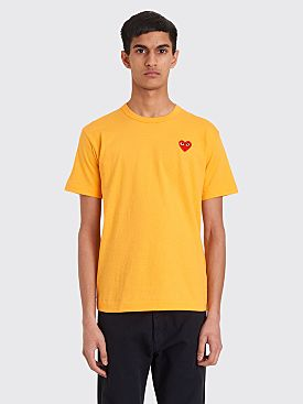 Comme des Garçons Play Small Heart T-shirt Orange