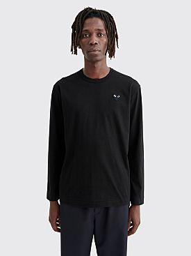Comme des Garçons Play Small Heart LS T-Shirt Black