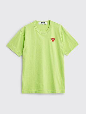 Comme des Garçons Play Small Heart T-shirt Green