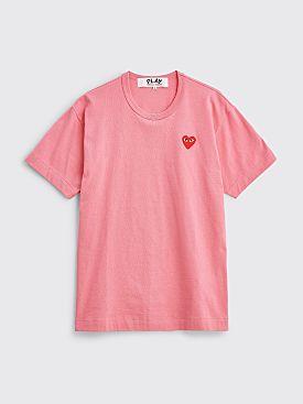 Comme des Garçons Play Small Heart T-shirt Pink