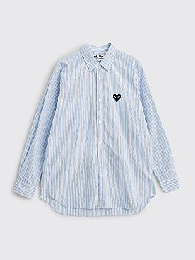 Comme des Garçons Play Small Heart LS Shirt Stripe Blue / White