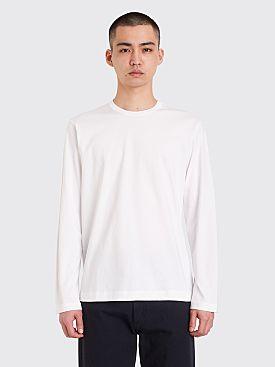 Comme des Garçons Shirt Neck Logo LS T-shirt White