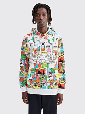Comme des Garçons Shirt Printed Comic Hooded Sweatshirt White