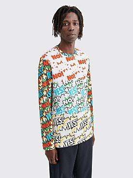 Comme des Garçons Shirt Printed Comic LS T-shirt White