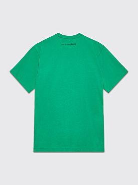 Comme des Garçons Shirt Neck Logo T-shirt Green