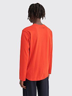 Comme des Garçons Shirt Neck Logo LS T-shirt Red