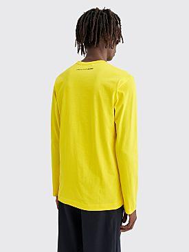 Comme des Garçons Shirt Neck Logo LS T-shirt Yellow