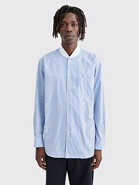Comme des Garçons Shirt Ribbed Collar Shirt Stripe Blue