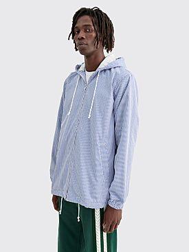 Comme des Garçons Shirt Hooded Jacket Stripe Blue