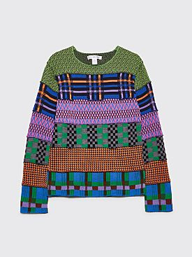 Comme des Garçons Shirt Patch Panel Sweater Multi Color