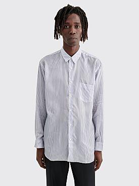 Comme des Garçons Shirt Forever Classic Cupro Shirt Blue / White Stripe