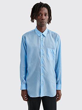 Comme des Garçons Shirt Forever Classic Cupro Shirt Blue