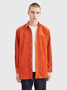 Comme des Garçons Shirt Corduroy Shirt Orange