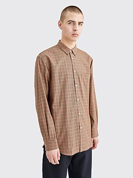 Comme des Garçons Shirt Checkered Poplin Shirt Brown / Orange