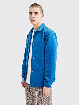 Comme des Garçons Shirt Corduroy Coach Jacket Blue