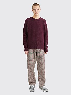 Comme des Garçons Shirt Houndstooth Wool Twill Pants Brown