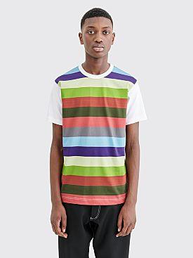 Comme des Garçons Shirt Stripe Panel T-shirt White