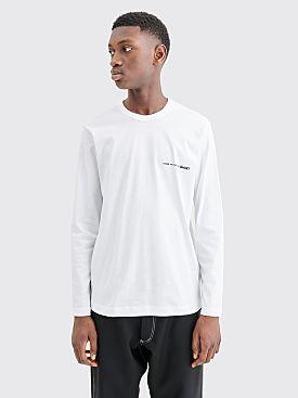 Comme des Garçons Shirt Chest Logo LS T-shirt White