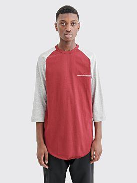 Comme des Garçons Shirt Chest Logo T-shirt Burgundy / Grey