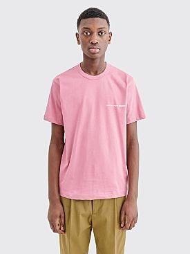 Comme des Garçons Shirt Chest Logo T-shirt Pink