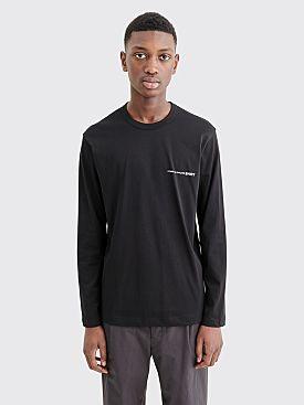 Comme des Garçons Shirt Chest Logo LS T-shirt Black