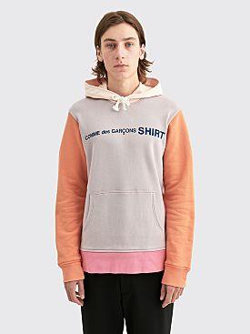 Comme des Garçons Shirt Front Logo Sweatshirt Pink Mix