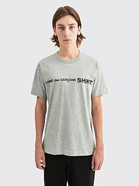 Comme des Garçons Shirt Front Logo T-shirt Top Grey