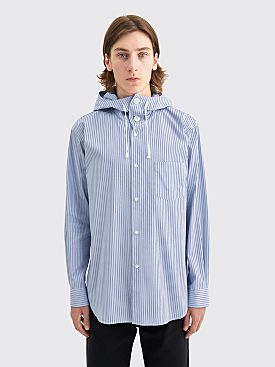 Comme des Garçons Shirt Hooded Shirt Yarn Dyed Stripe
