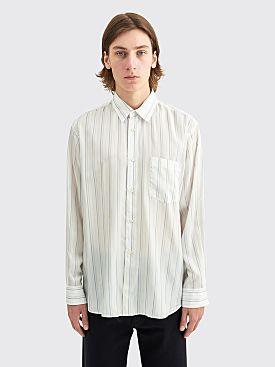 Comme des Garçons Shirt Forever Classic Cupro Shirt Stripe White / Blue