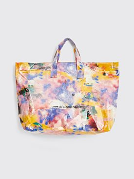 Comme des Garçons Shirt Tote Bag Futura Print C Yellow