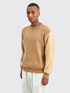 Comme des Garçons Shirt Color Blocked Knit Sweater Brown