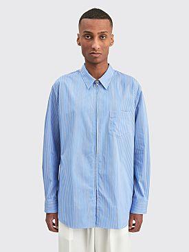 Comme des Garçons Shirt Zip Shirt Blue Stripe