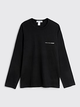 Comme des Garçons Shirt Chest Logo Long Sleeve T-shirt Black