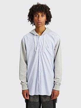 Comme des Garçons Shirt Hooded Shirt Sweater Grey / Blue