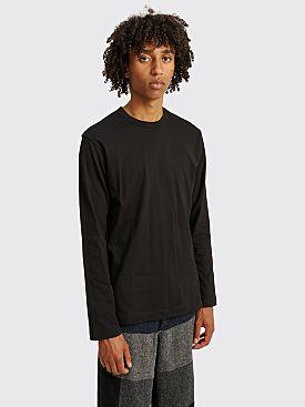 Comme des Garçons Shirt Neck Logo LS T-shirt Black