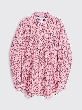 Comme des Garçons Shirt x KAWS Poplin Shirt Pink