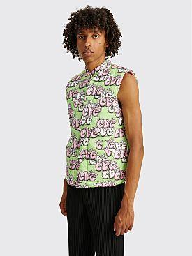 Comme des Garçons Shirt x KAWS Padded Cotton Vest Green / Pink