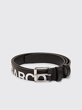 Comme des Garçons Wallet Huge Logo Leather Belt Black