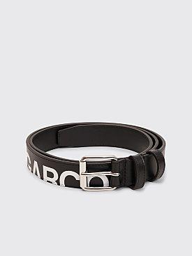 Comme des Garçons Wallet Huge Logo Leather Belt Black