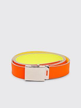 Comme des Garçons Wallet Super Fluo Leather Belt Orange / Yellow