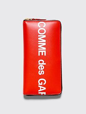 Comme des Garçons Wallet SA0110 Huge Logo Red