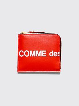 Comme des Garçons Wallet SA3100 Huge Logo Red