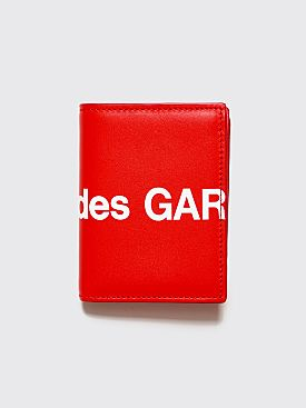 Comme des Garçons Wallet SA0641 Huge Logo Red